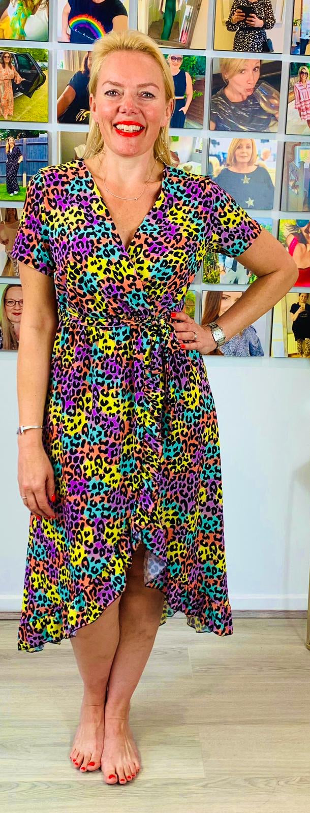 Rainbow leopard dress - chichappensboutique