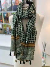 Load image into Gallery viewer, Persian Tassel Scarf (various colours) - chichappensboutique