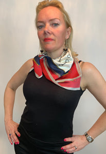Bridle Print Square Scarf - chichappensboutique