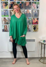 Load image into Gallery viewer, V-Neck Asymmetric Pocket Top (various colours) - chichappensboutique