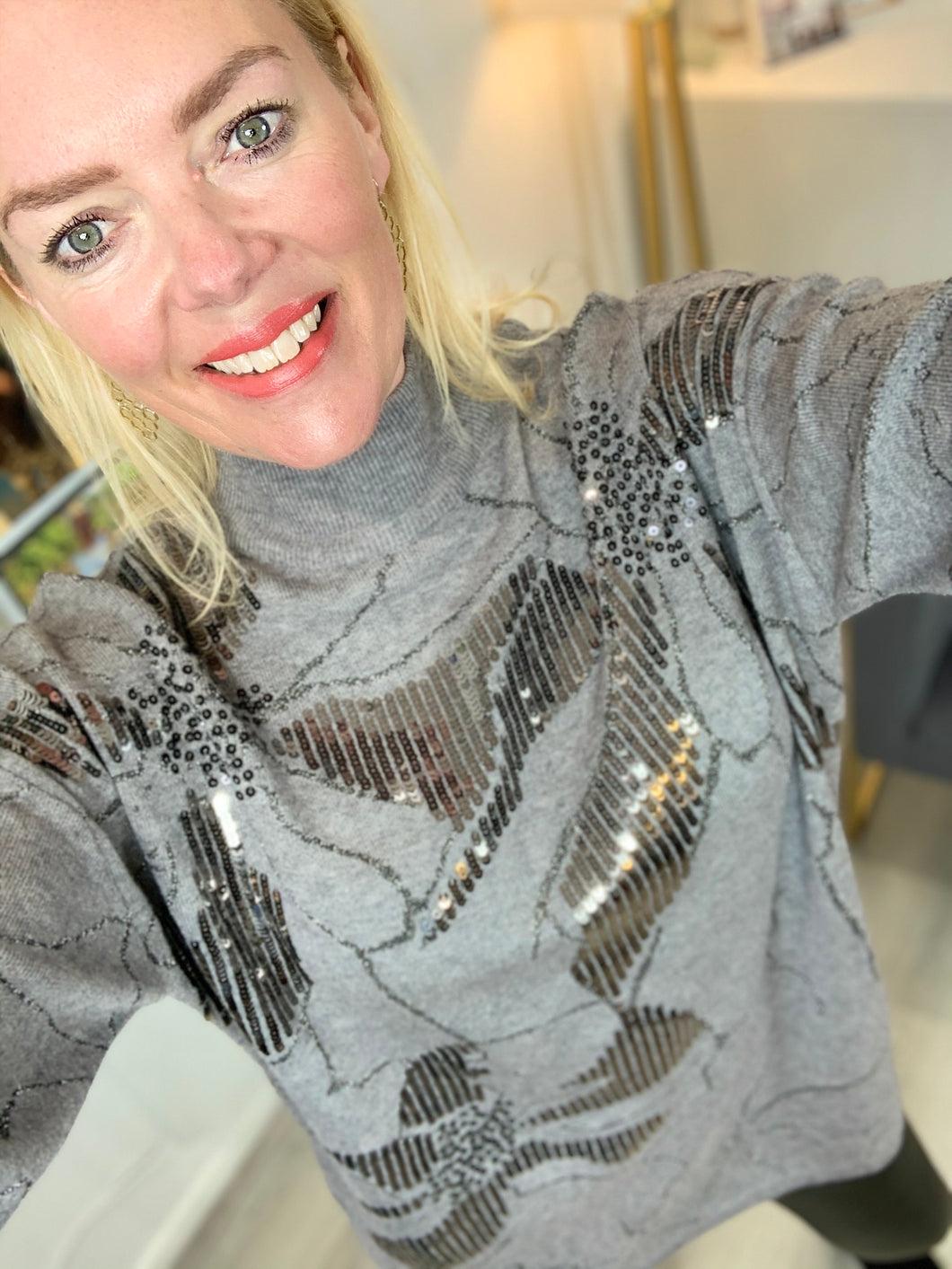 Abstract Sparkle Jumper - chichappensboutique