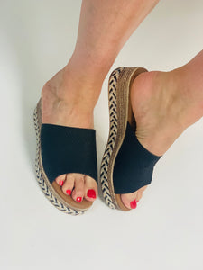 Black Mule Sandal - chichappensboutique