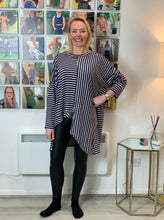 Load image into Gallery viewer, Breton Asymmetric Hem Top - chichappensboutique