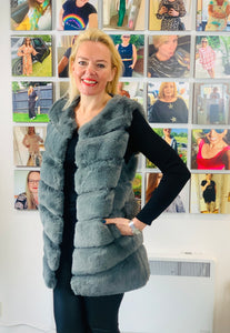 Faux Fur Gilet (various colours) - chichappensboutique
