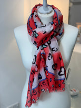 Load image into Gallery viewer, Hearts Scarf - chichappensboutique