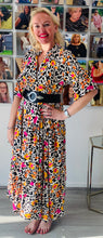 Load image into Gallery viewer, Vibrant Animal Maxi Dress - chichappensboutique