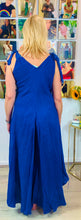 Load image into Gallery viewer, Linen Feel Wide Leg Jumpsuit with Ribbon Shoulders - chichappensboutique
