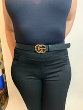 Load image into Gallery viewer, GG Belt Gucci Inspired Black with gold or silver buckle - chichappensboutique