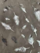 Load image into Gallery viewer, Feather Large Metallic Feather Scarf - chichappensboutique