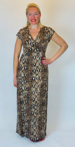 Stella Snakeskin Maxi Dress - chichappensboutique