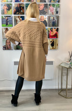 Load image into Gallery viewer, Longline Cable Poncho Knit - chichappensboutique