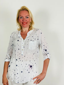 Blouse with Sequin Pocket - chichappensboutique