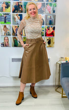 Load image into Gallery viewer, Faux Leather Midi Skirt - chichappensboutique