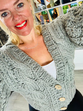 Load image into Gallery viewer, Short Hand Knitted Cardigan - chichappensboutique
