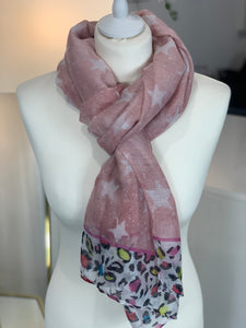 Stars and Animal Lightweight Scarf (various colours)