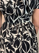 Load image into Gallery viewer, Eli White Monochrome Leaf Dress - chichappensboutique