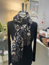 Load image into Gallery viewer, Gold Thread Mixed Animal Scarf (various colours) - chichappensboutique