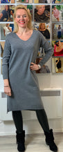 Load image into Gallery viewer, V-neck Jumper Dress (various colours) - chichappensboutique