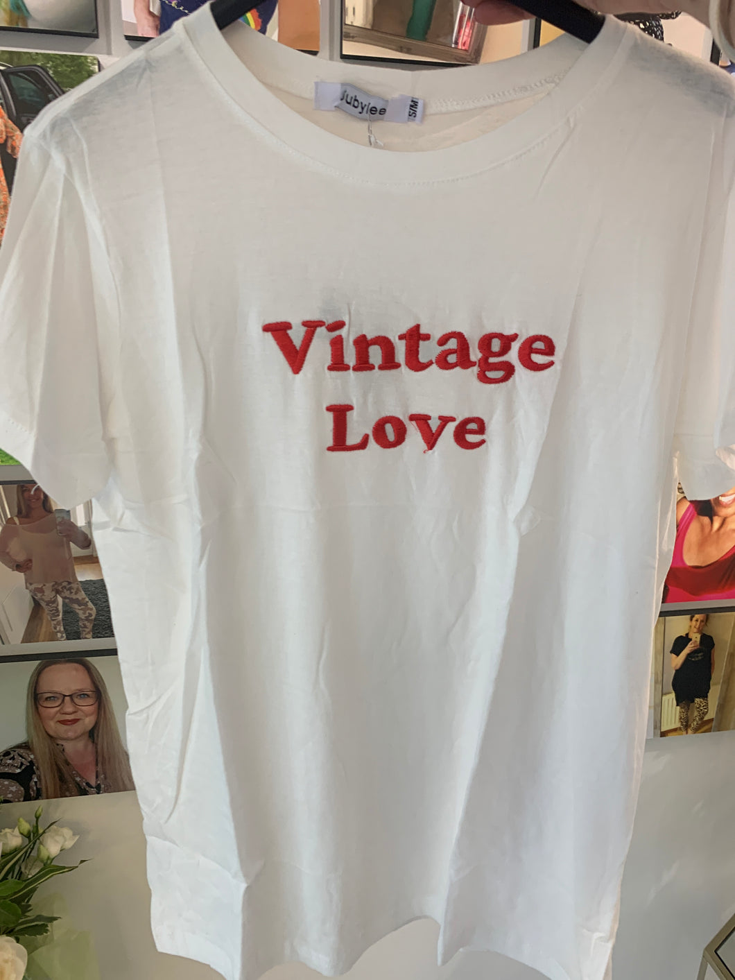 Vintage Love Slogan Tshirt - chichappensboutique