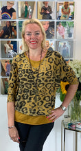Load image into Gallery viewer, Three piece Animal Top (with two layers and a necklace) - chichappensboutique