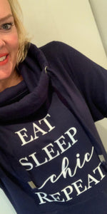 EAT, SLEEP, chic, REPEAT Charity Hoodie - chichappensboutique
