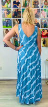 Load image into Gallery viewer, Abstract tie dye v neck sundress - chichappensboutique