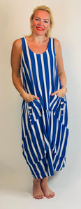 Jersey Stripe Pocket Maxi Dress (various colours) - chichappensboutique