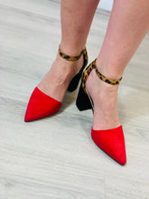 Load image into Gallery viewer, Red Heeled Animal Shoes - chichappensboutique