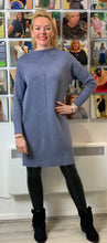 Load image into Gallery viewer, Ribbed Neckline Jumper Dress - chichappensboutique