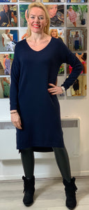 V-neck Jumper Dress (various colours) - chichappensboutique