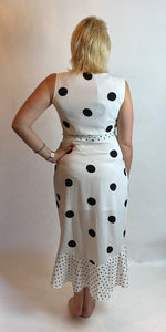 Monochrome Spot Dress - chichappensboutique