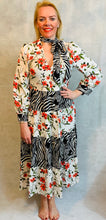 Load image into Gallery viewer, Floral Zebra Maxi Dress - chichappensboutique
