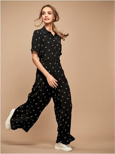 Star Print Culotte Jumpsuit - chichappensboutique