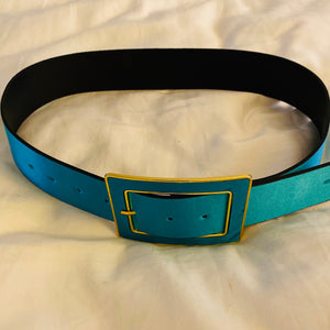 Vibrant Satin Buckle Belt - chichappensboutique
