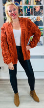 Load image into Gallery viewer, Longline Hand Knitted Cardigan - chichappensboutique