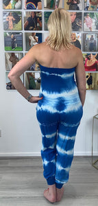 Tie Dye Frill Sleeveless Jumpsuit - chichappensboutique