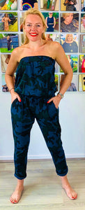 Strapless Camo Jumpsuit - chichappensboutique