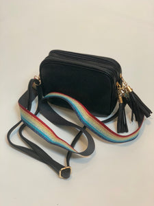 Camera Crossbody Bag Double Zip Pocket - chichappensboutique