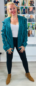 Longline Hand Knitted Cardigan - chichappensboutique