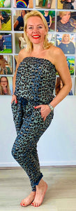 Strapless animal jumpsuit - chichappensboutique