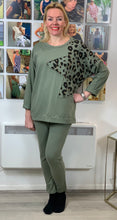 Load image into Gallery viewer, Leopard Star Loungewear Set (various colours) - chichappensboutique