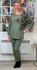 Leopard Star Loungewear Set (various colours) - chichappensboutique