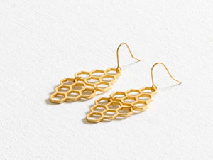 Grace Hexagon Earrings - chichappensboutique