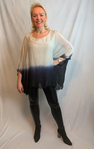 Extra Chic Ombré Chiffon Top - chichappensboutique