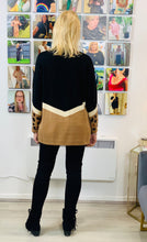 Load image into Gallery viewer, Chevron Jumper with Animal Sequins - chichappensboutique