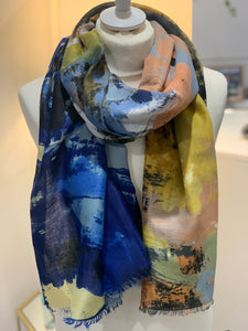 Abstract Paint Scarf - chichappensboutique