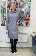 Load image into Gallery viewer, Pocket Front Jumper Dress (various colours) - chichappensboutique