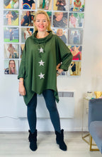 Load image into Gallery viewer, Triple Star Cowl Neck Top (various colours)