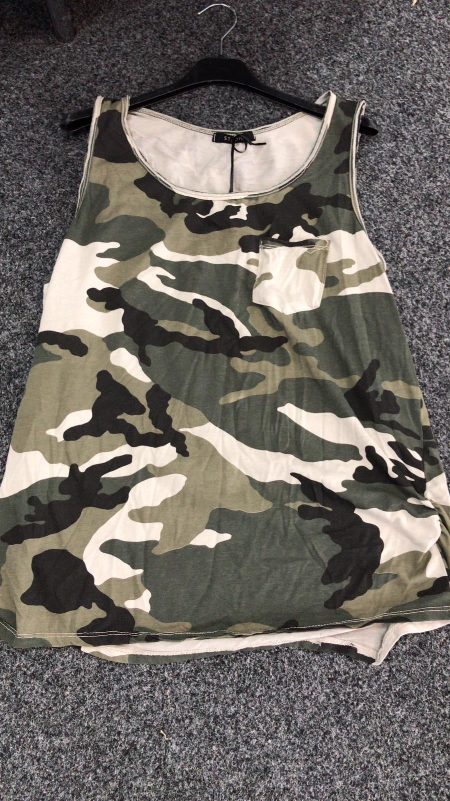 Camo Vest Top - chichappensboutique