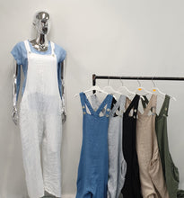 Load image into Gallery viewer, Linen Feel Dungarees - chichappensboutique
